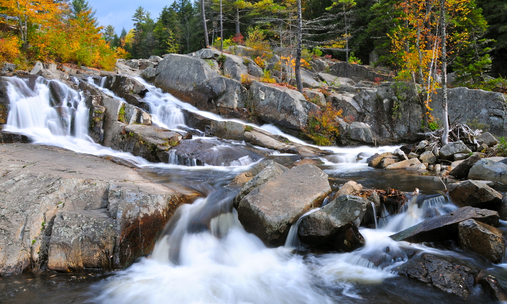 Waterfalls near Jackson New Hampshire USA