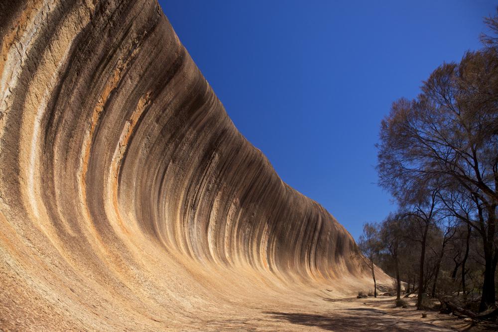Wave Rock near Hyden in Western Australia