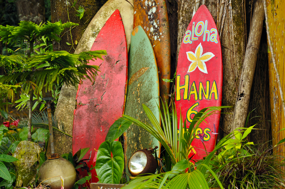 Welcome Display On The Road To Hana Hawaii