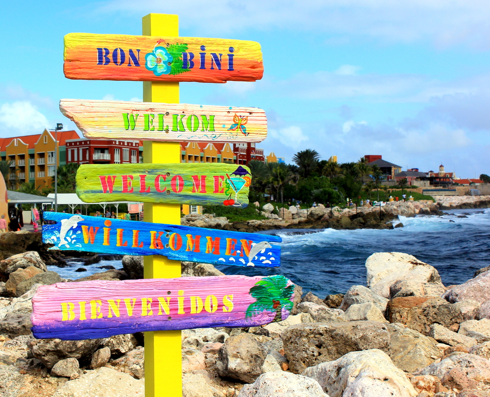 Welcome sign in Curacao