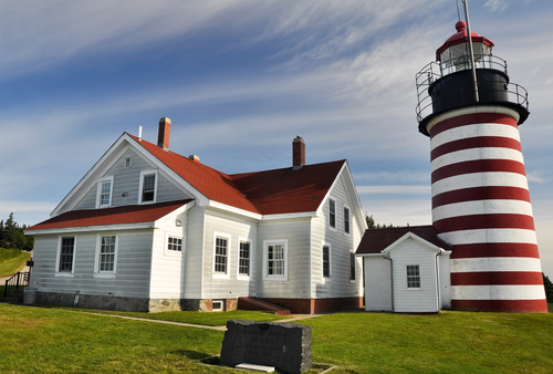 West Quoddy Head Lighthouse Maine USA