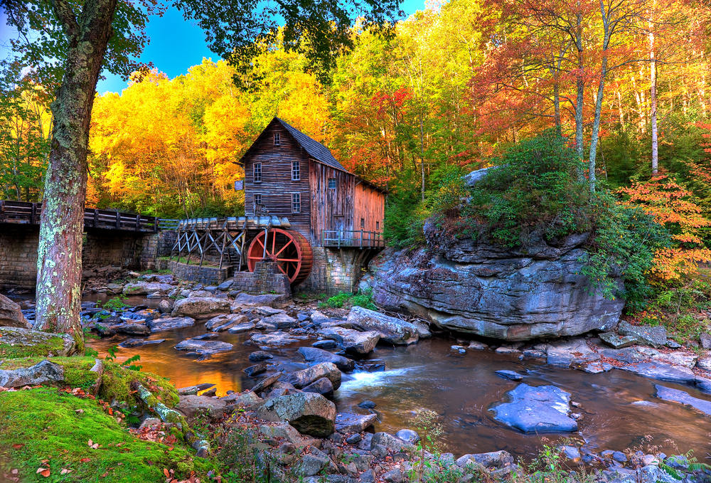 West Virginia and old grist mill