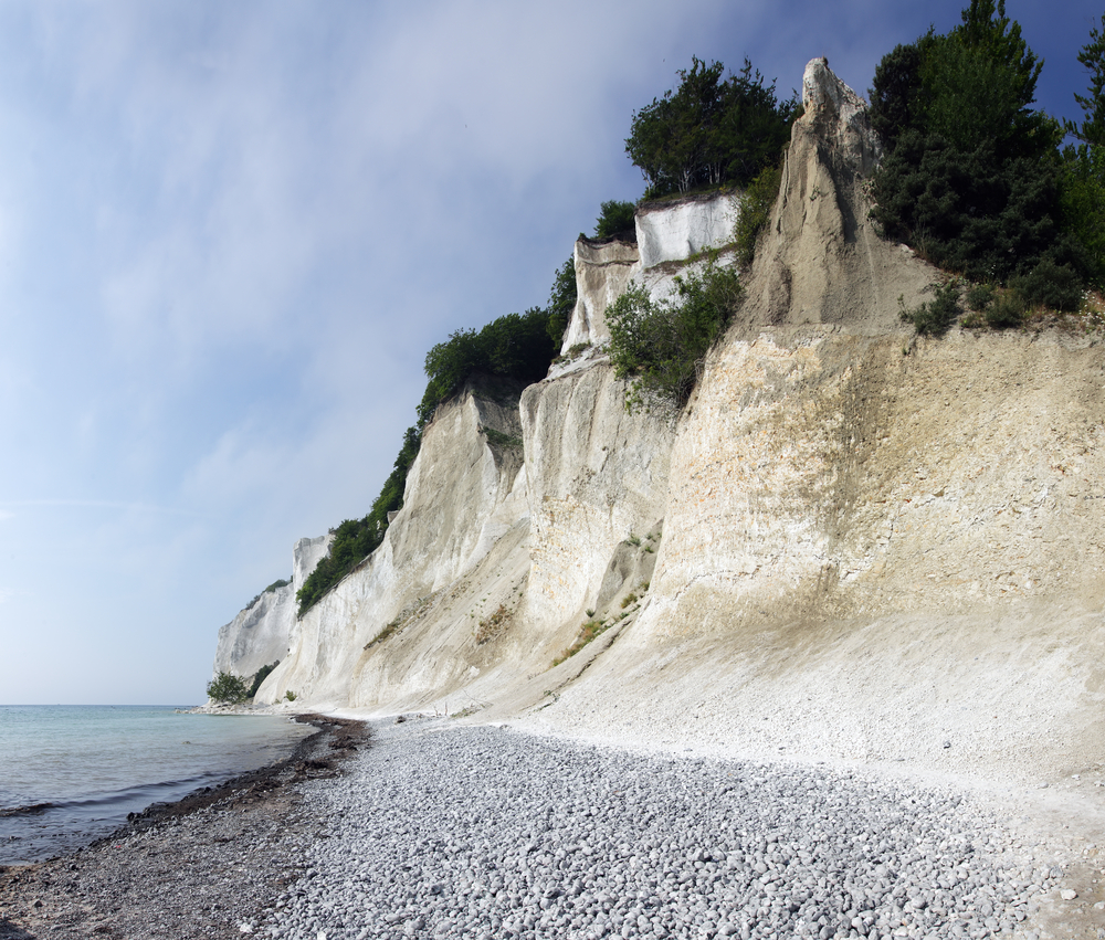 White Cliff Famous tourist attraction in Denmark the white cliffs of Moen