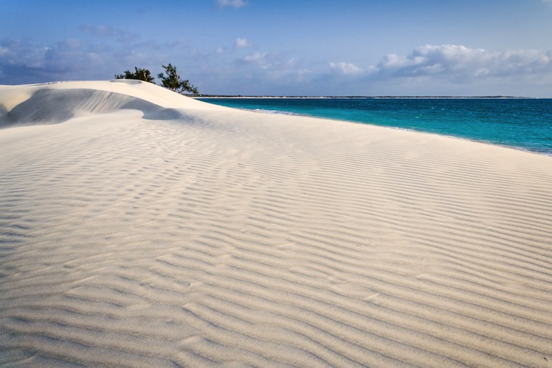 White sand dune by the sea in southern Madagascar