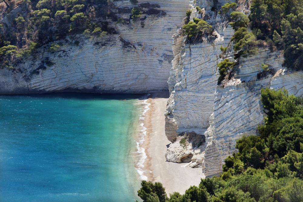 Wild beach in the Gargano Baia delle Zagare beach Italy puglia1