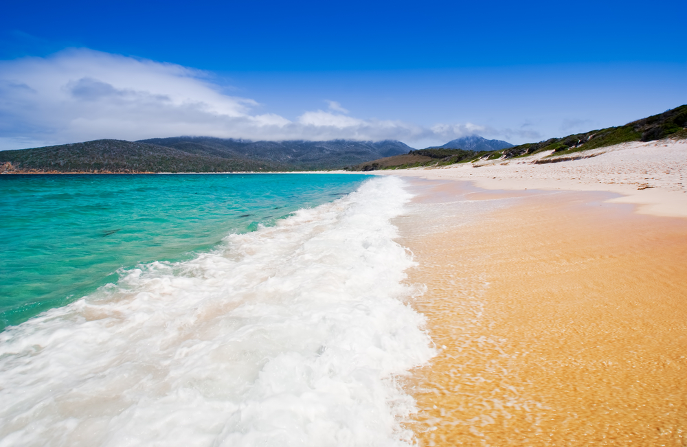 Wineglass Bay in Tasmania Australia