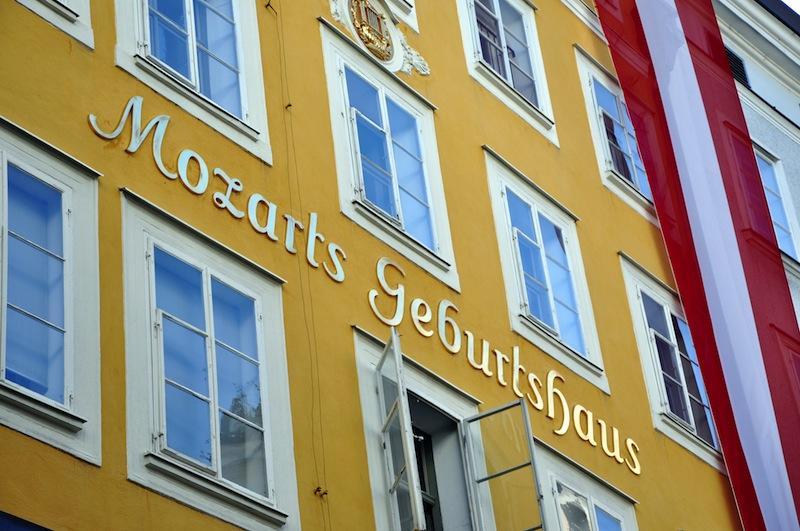 Wolfgang Amadeus Mozart in Salzburg Austria
