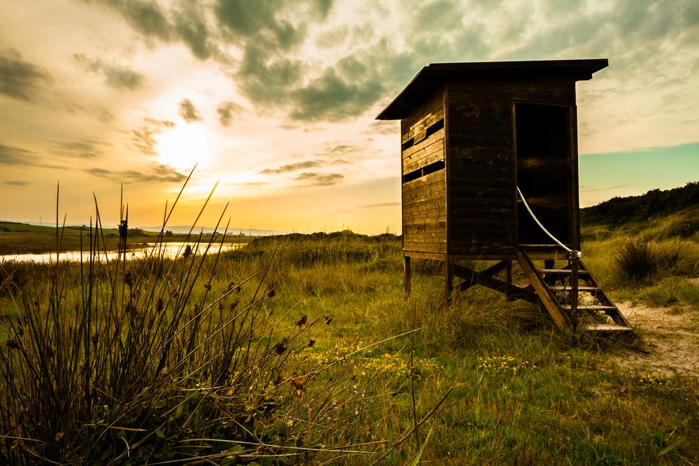 Wooden Hut at Dune Costiere Park Pilone Ostuni Apulia Italy