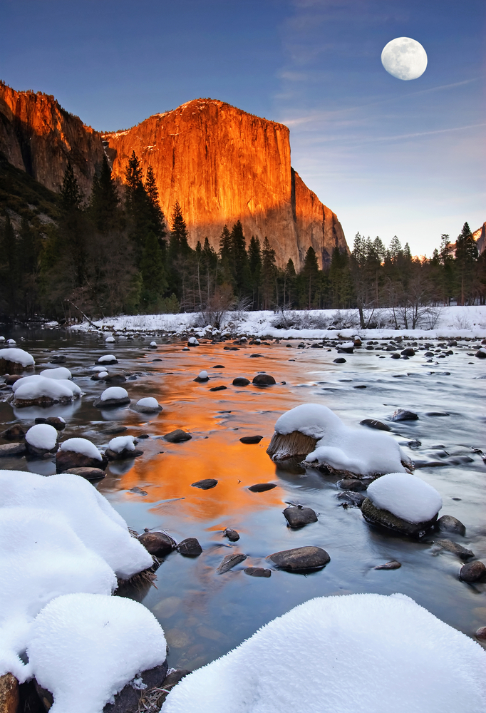 Yosemite in winter time