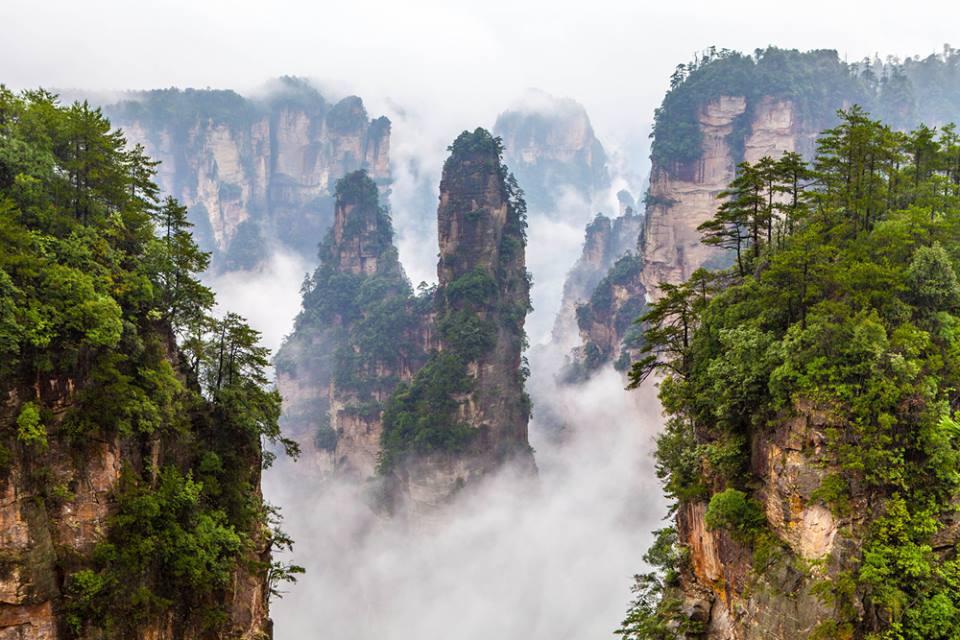 Zhangjiajie national park in China Hunan province Avatar Mountains