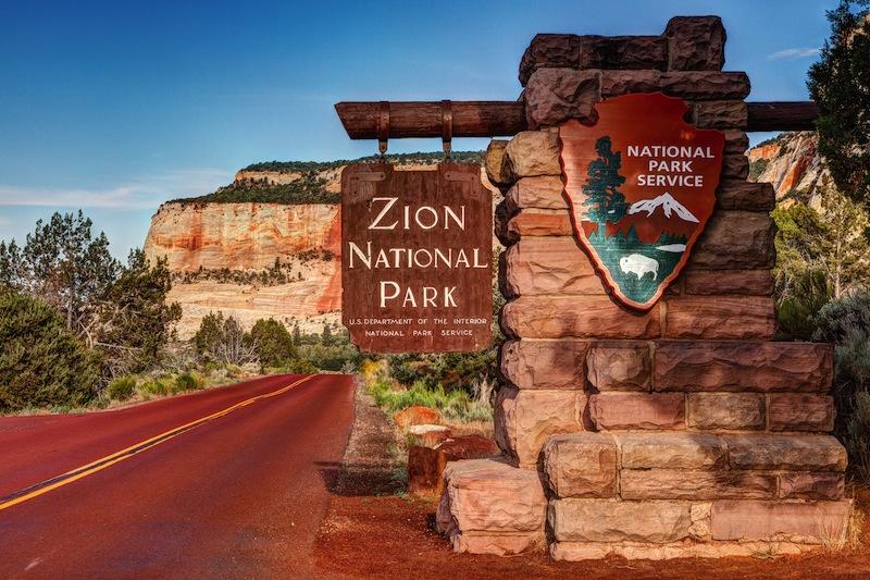 Zion National Park Sign Utah