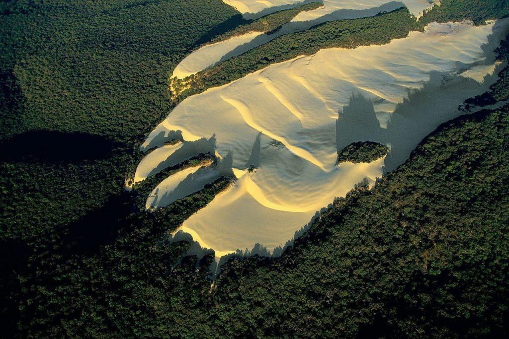 above Fraser Island dune Australia