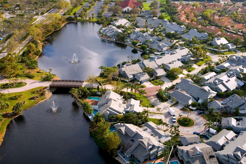 aerial view of luxury naples florida community