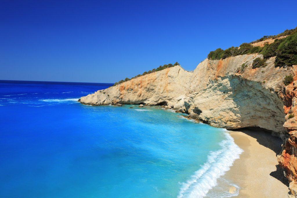 beach on the island of Lefkada Greece