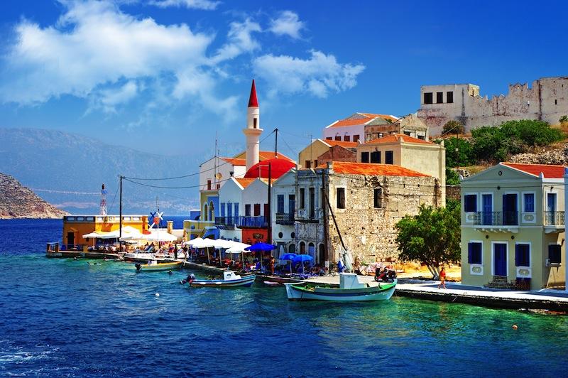 beautiful Kasteloriso bay Greece Dodecanesjpg