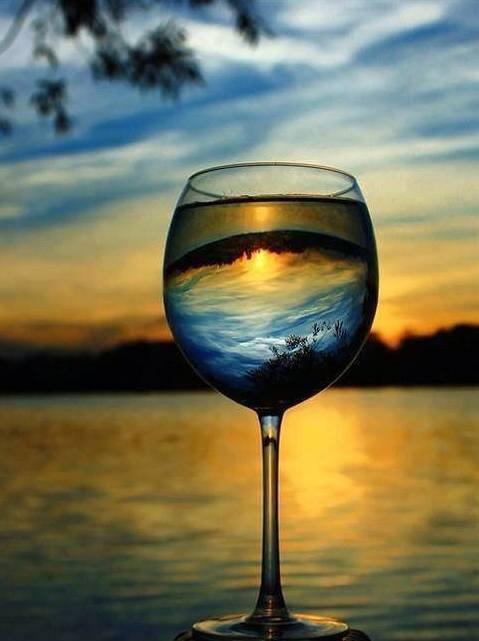 bicchiere tramonto