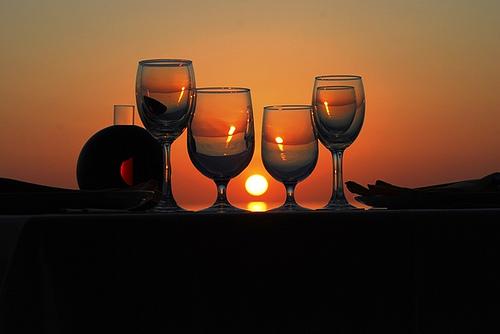 bicchieri tramonto