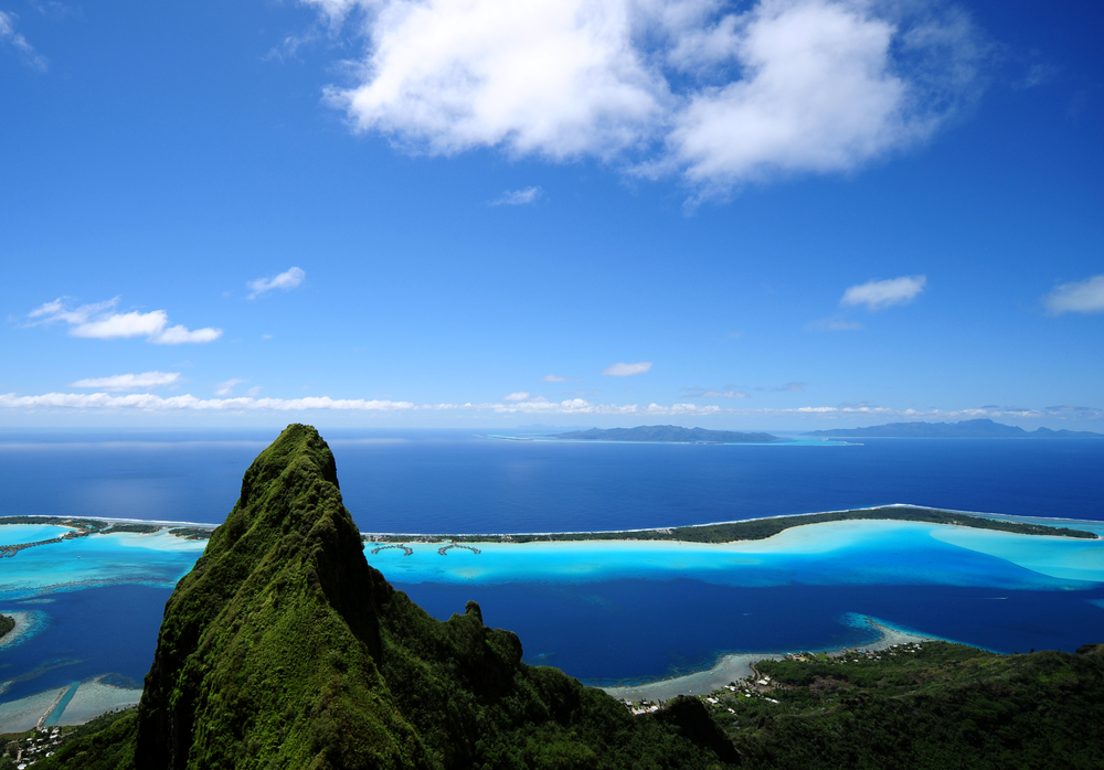 bora bora and otemanu mt