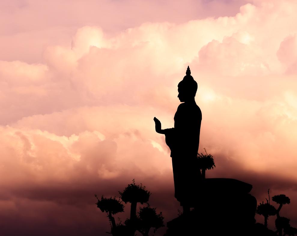 buddha sunset