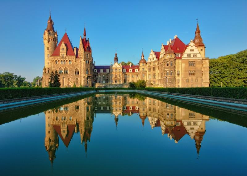 castle in Moszna near Opole Silesia Poland