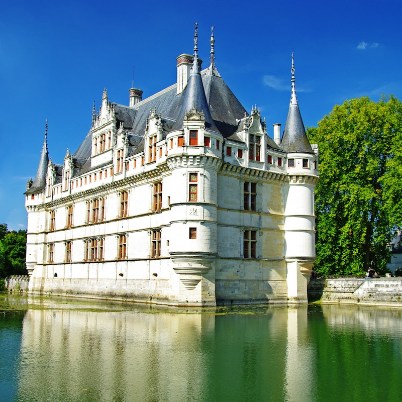 castles of Loire valley Azey