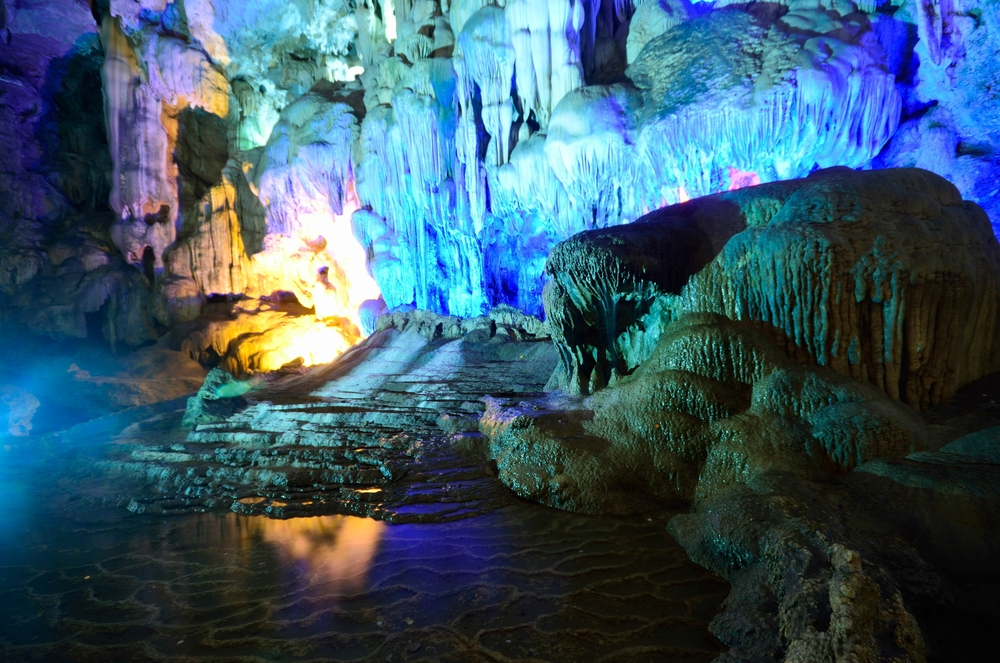 caves in Ha Long 0Bay Vietnam
