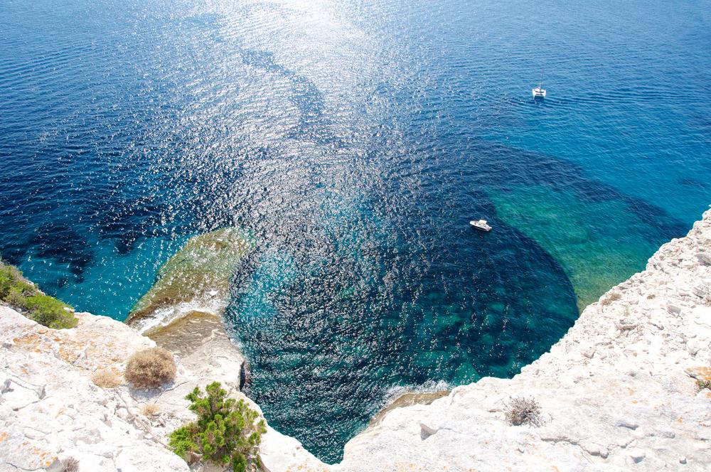 cliff of Bonifacio Corsica France