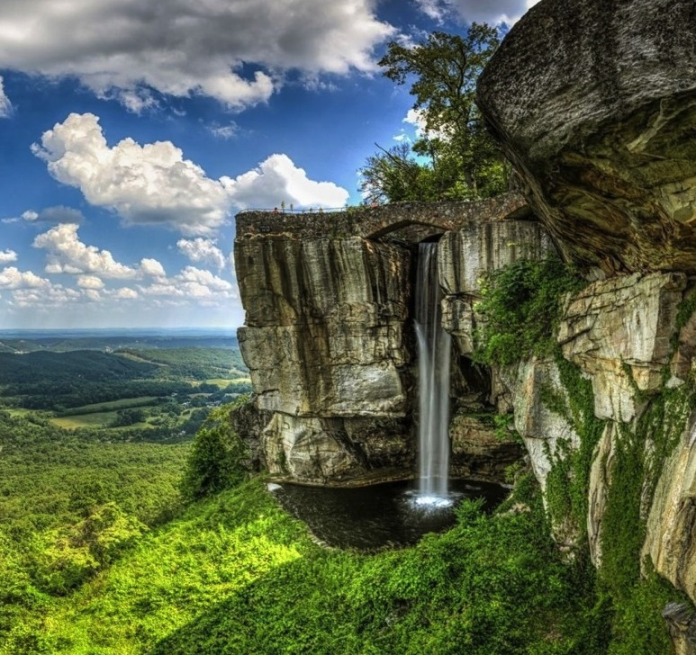 clouds rock city waterfall georgia usa tennessee lookout mountain nature 768x1366