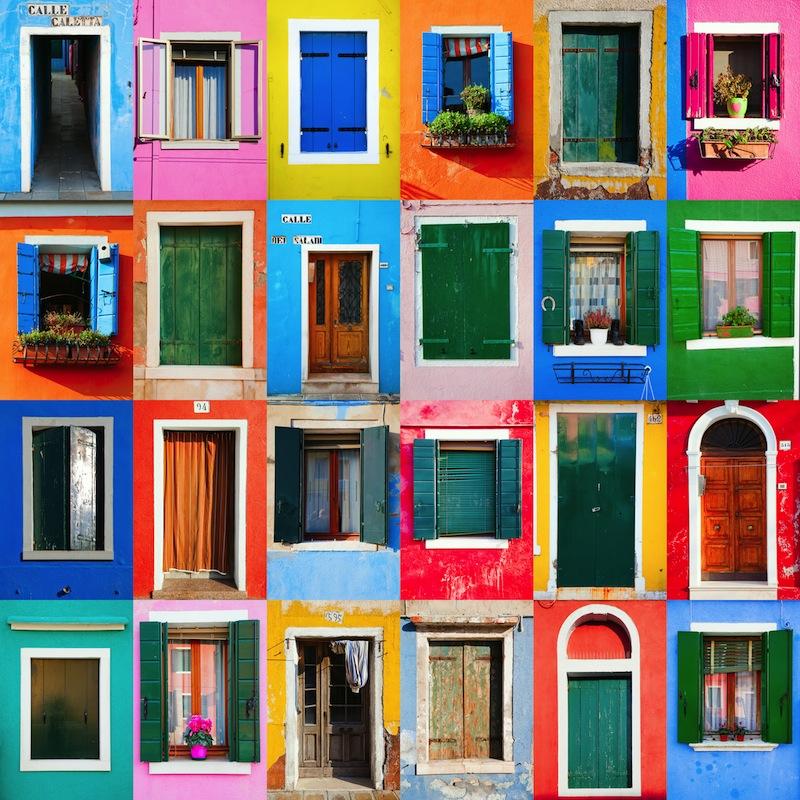 doors in Burano venice