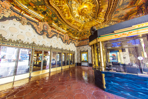 entrance of El Capitan Theatre June 26 2012 in HollywoodCA