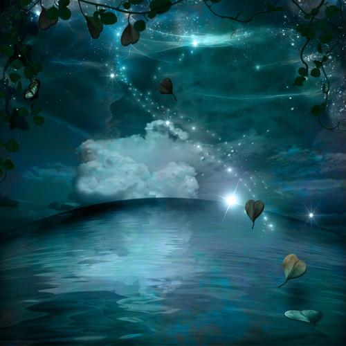 foglie volanti luna