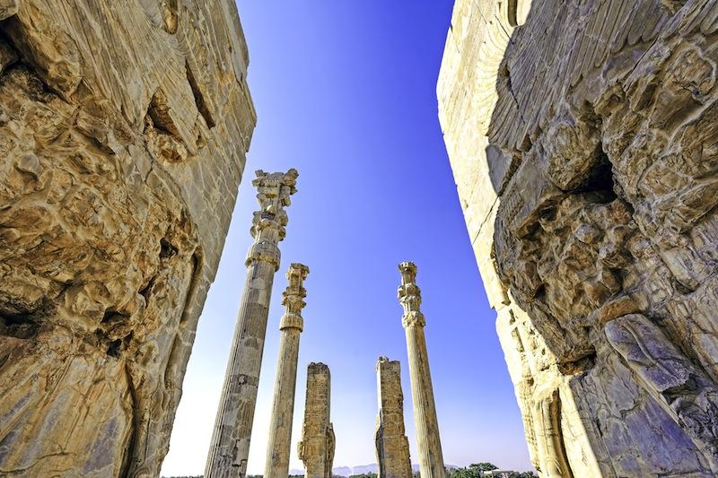 gates of Xerxes palace in Persepolis Shiraz Iran