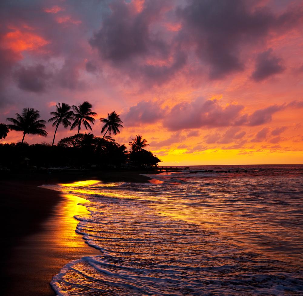 hawaii tramonto