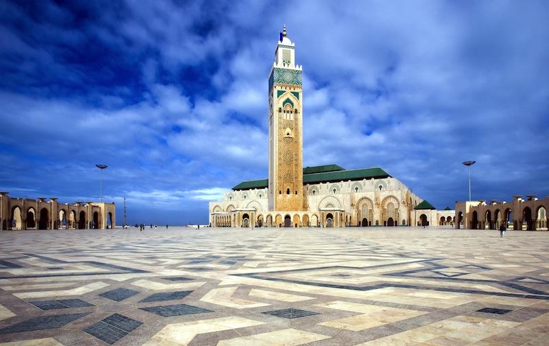 he Mosque of Hassan II in Casablanca