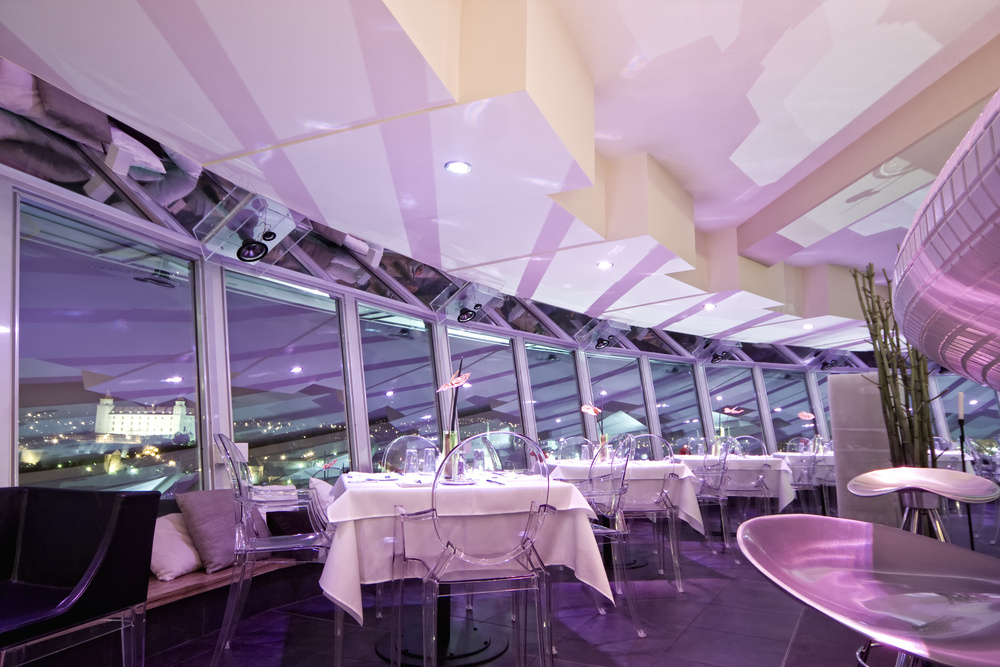 interior of modern bar and restaurant with a pink environment 1