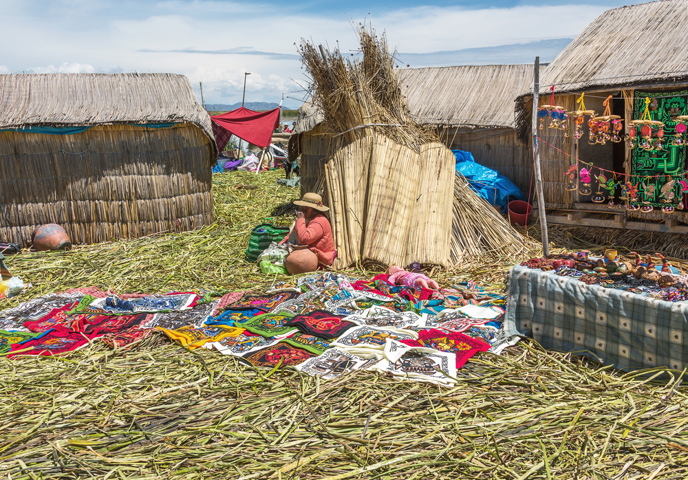 island Uros in Lake Titicaca