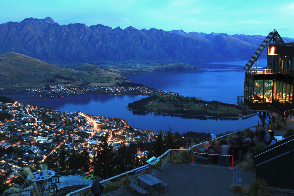 landscape of Queenstown City New Zealand at Night 1
