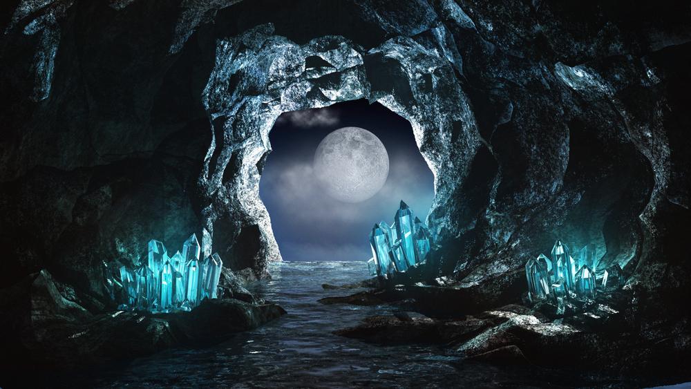 luna grotta ghiaccio