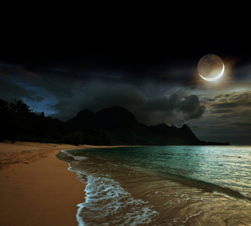 luna spicchio luminoso