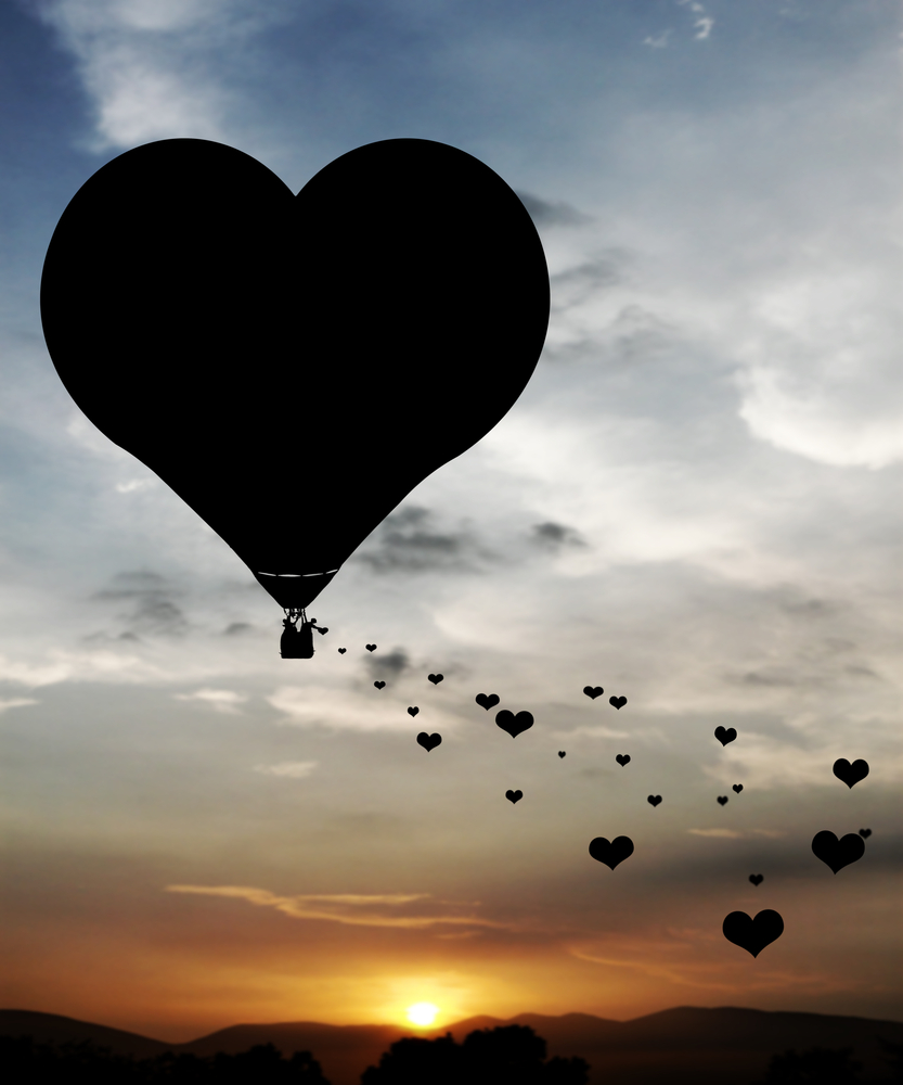 mongolfiera amore