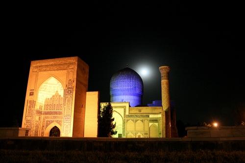 moon amir timur samarkand uzbekistan