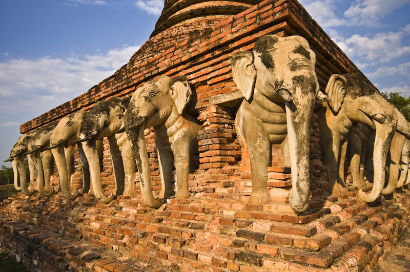 part of the ruin of Wat Sorasak in Sukhothai