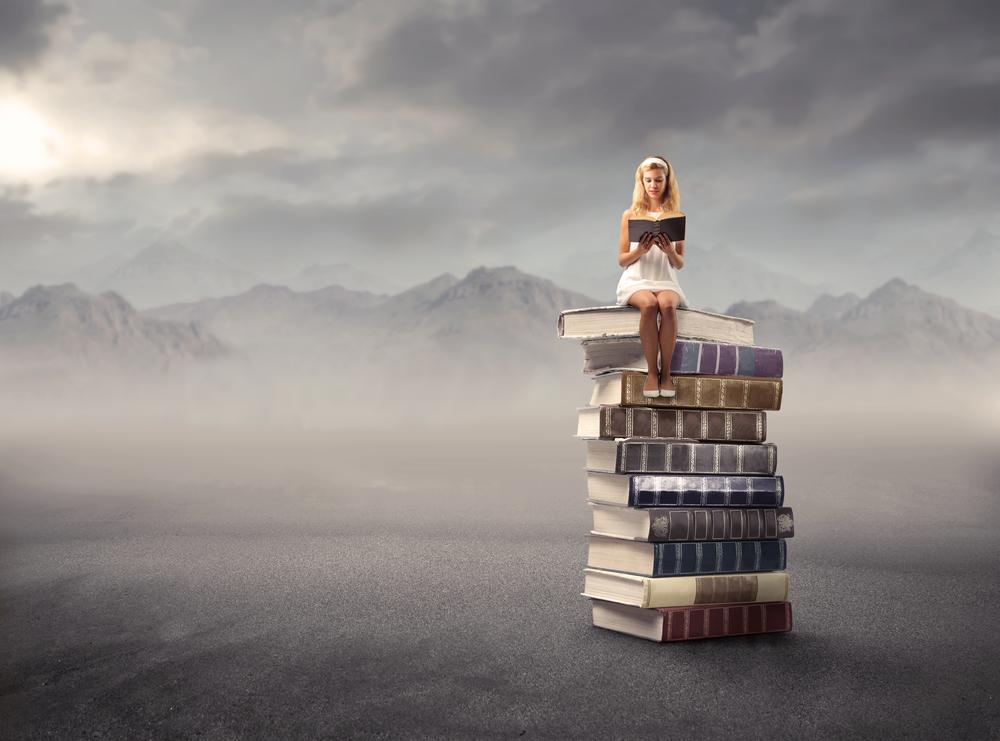ragazza libri