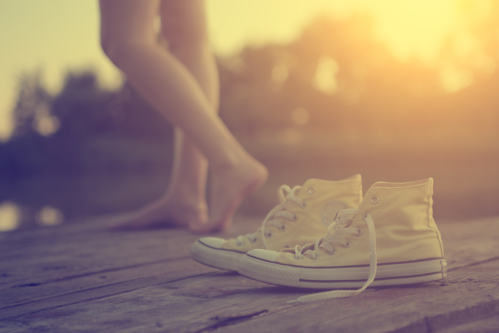ragazza scarpe comode