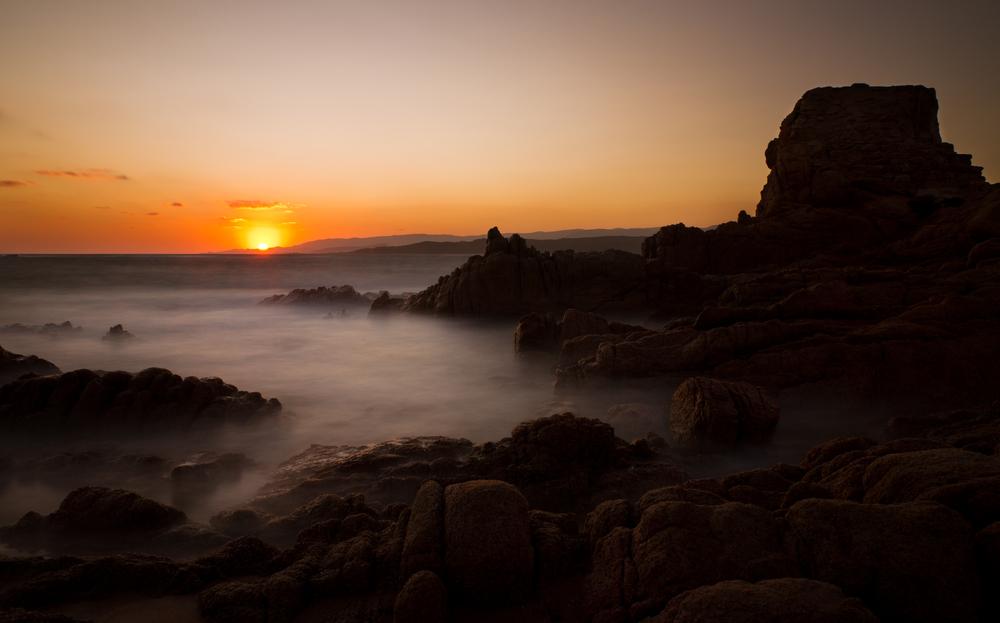 rock beach in Tonnara Corsica