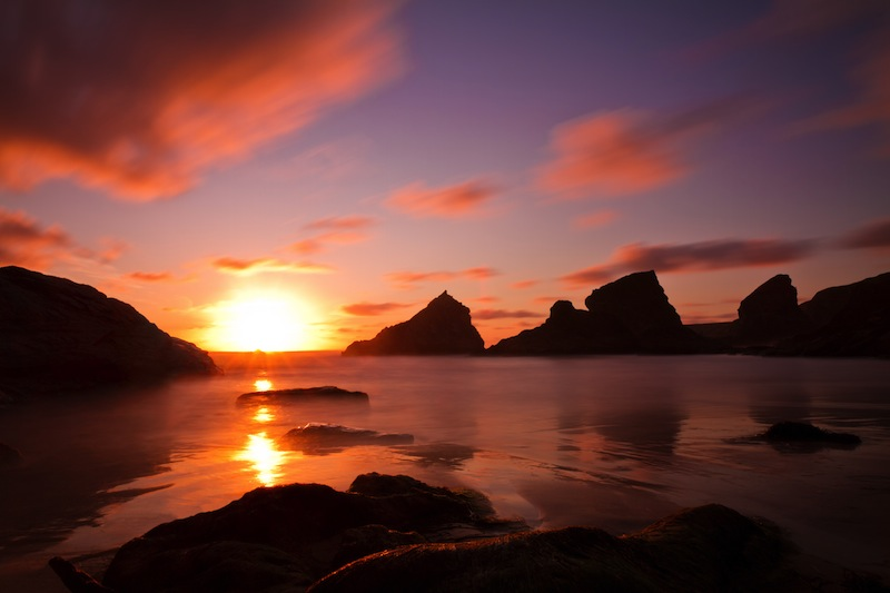 ruthan Steps at sunset Cornwall England jpg