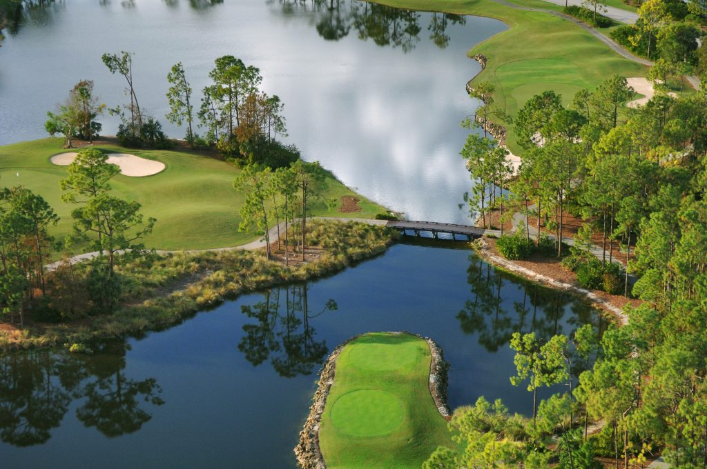 scenic south florida golf course aerial view 7