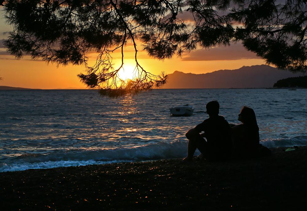 seduto spiaggia