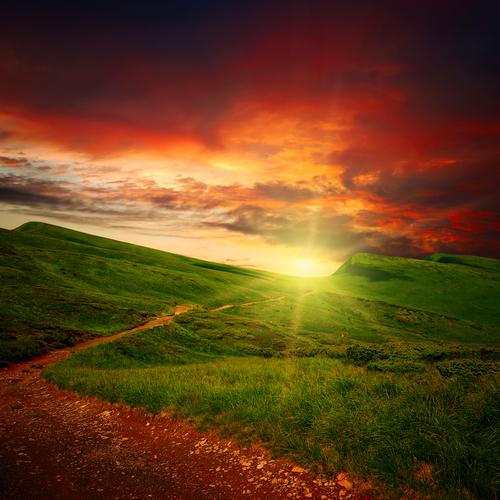 sentiero tramonto