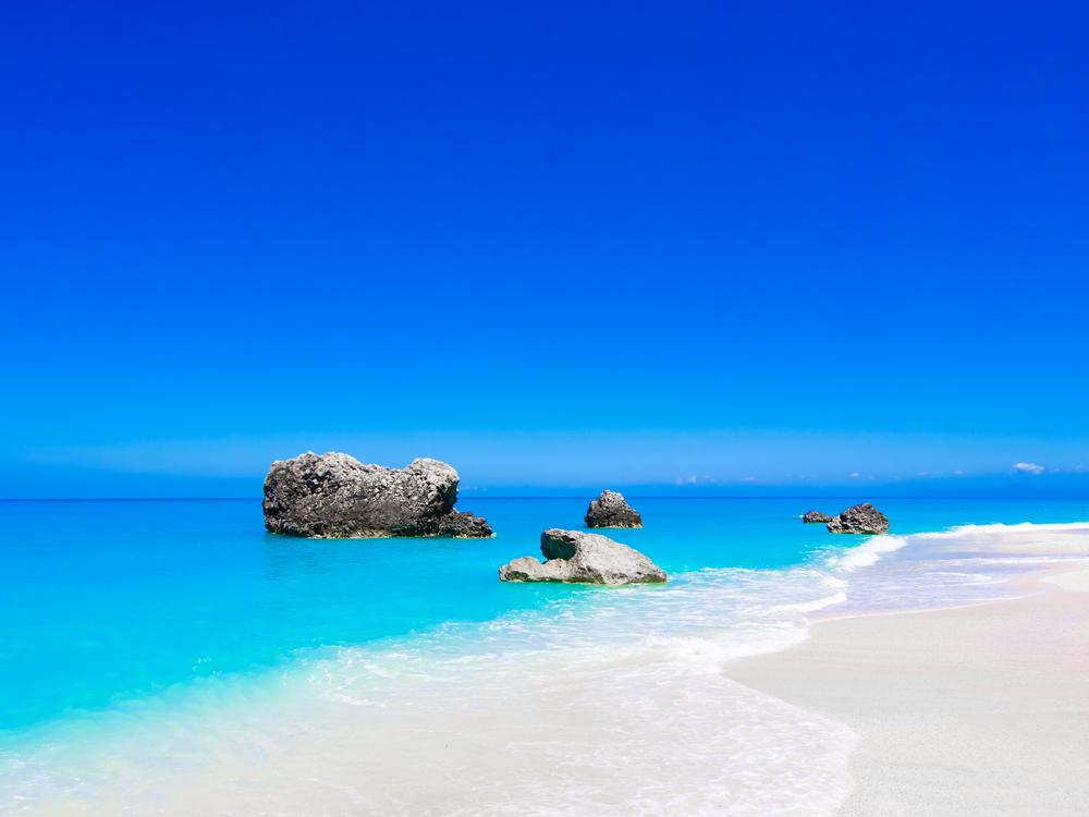 sland Lefkada Leucas or Leucadia Levkas Lefkas ionian sea Greece